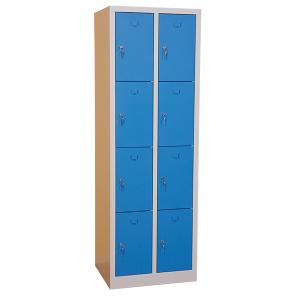 Elevskåp med 8 utrymmen, blå, bredare
