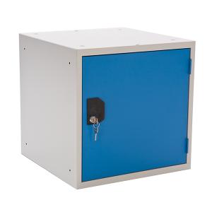 Småfackskåp stor 450mm, blå, öppen
