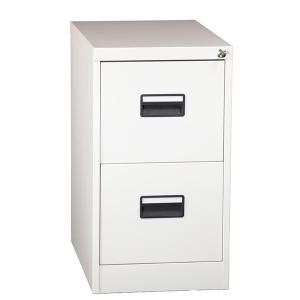 Hängmappsskåp - Folio format - 2 lådor, vit