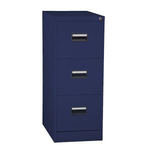 Hängmappsskåp - Folio format - 3 lådor, blå